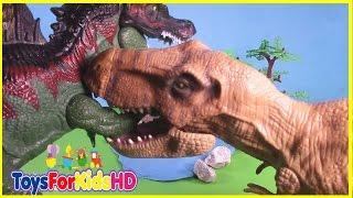 Videos de Dinosaurios para niños - Las Mejores Luchas de Dinosaurios de Juguete ToysForKidsHD
