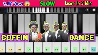 Astronomia Coffin Dance Meme Piano | Funeral Dance | Easy Mobile Piano Tutorial | Perfect Piano