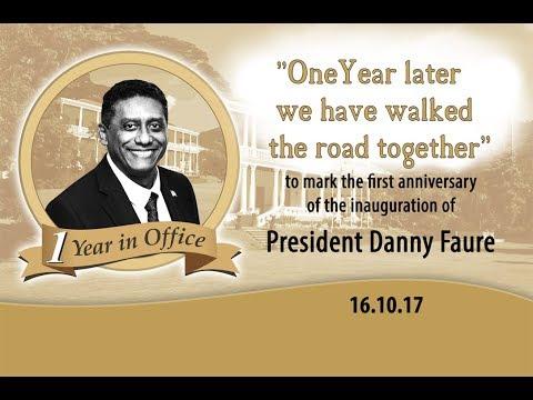 Photo Slideshow- 1 Year Anniversary of Inauguration of President Danny Faure