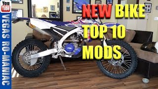👍 My top 10 MODS I do on every bike I buy NEW or USED Yz250fx