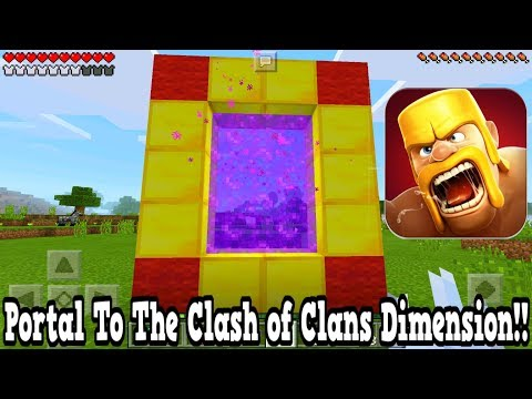 Minecraft Pe - Portal To The Clash of Clans Dimension - Mcpe Portal To The Clash of Clans!!!
