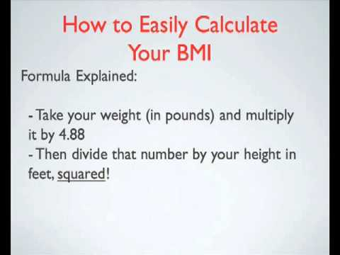 How to Easily Calculate you BMI - YouTube - bmi calculation formula