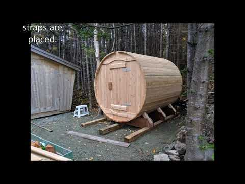 Barrel Sauna DIY Project