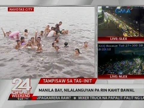 24 Oras: Manila Bay, nilalanguyan pa rin kahit bawal