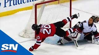 Blake Coleman Goes Full Bobby Orr In Devils' Shootout Against Coyotes