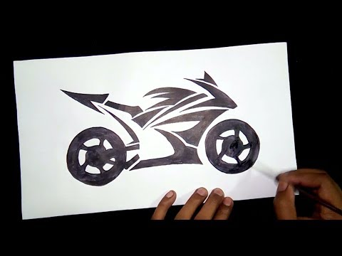 How To Draw A Racing Bike Step By Step Drawing For Beginners Youtube