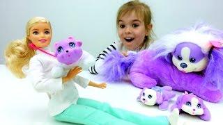 Игры с Барби: собачка Рокси ждет щенков. Приключения Барби - Мультики для девочек