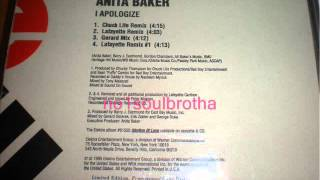 "Anita Baker ""I Apologize"" (Lafayette Remix #1)"