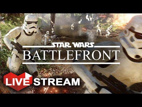 Star Wars Battlefront Gameplay  - HUGE Battle of Endor w/ Vehicles!! (60fps) Livestream