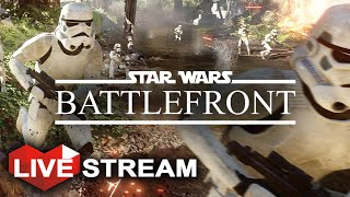 Star Wars Battlefront Gameplay  - HUGE Battle of Endor w/ Vehicles!! (60fps) Livestream