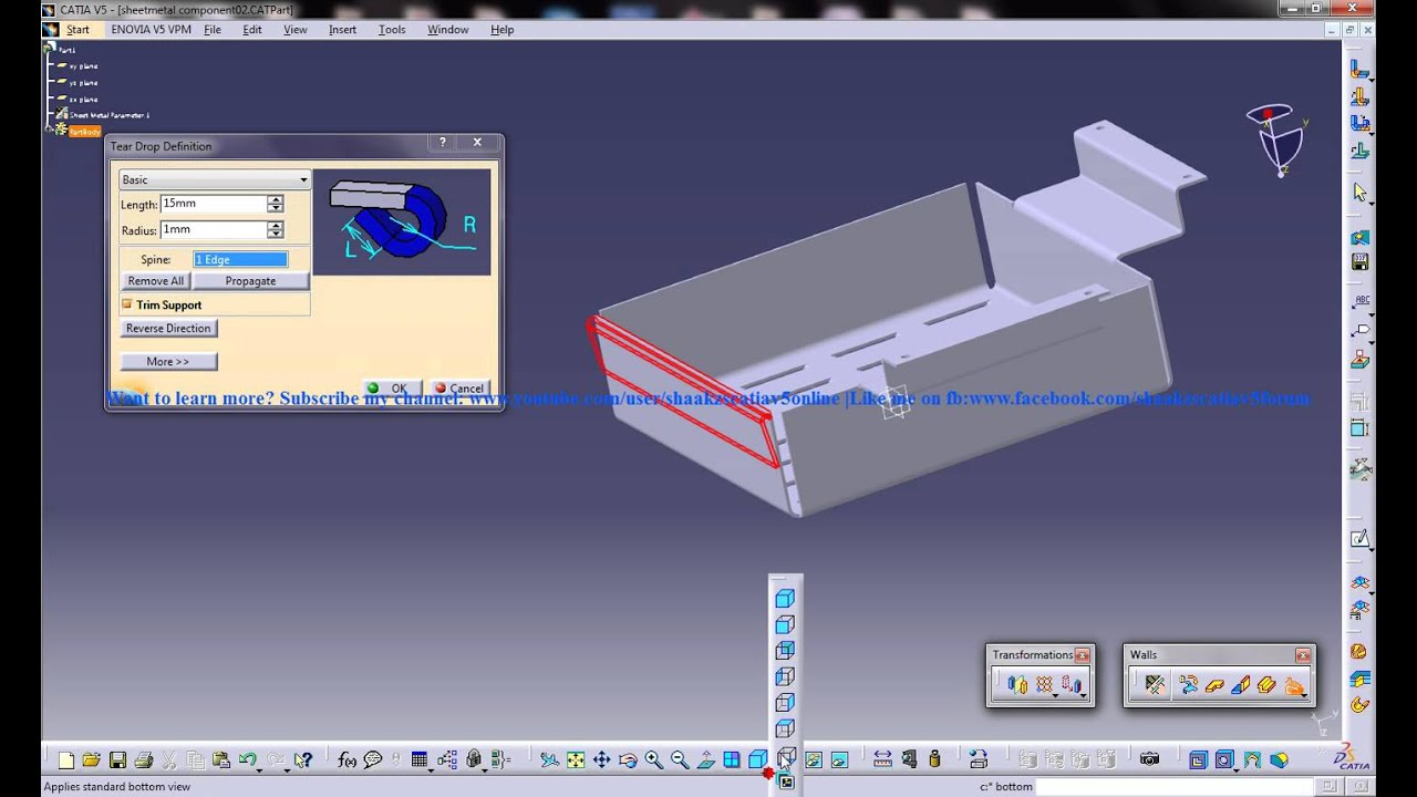 Catia V5 Fundamental 3d Modeling - Year of Clean Water