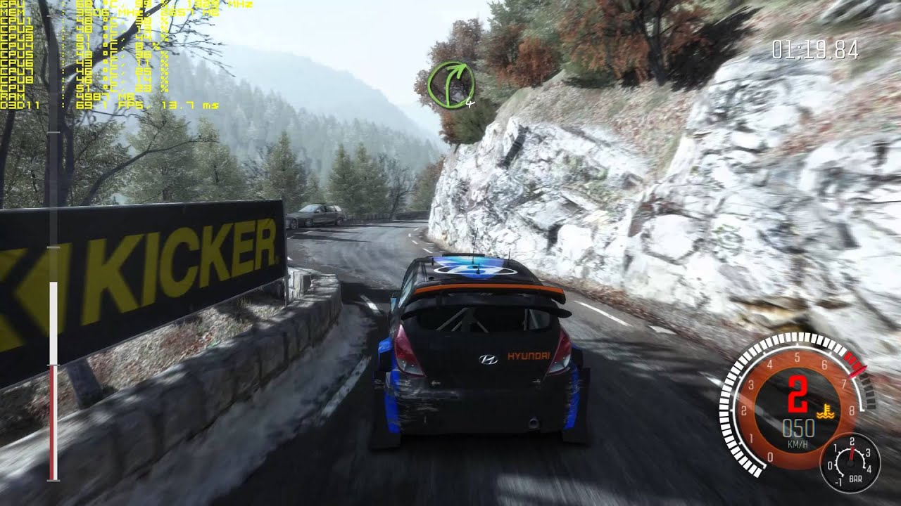 Dirt Rally 6700k gtx 970 144hz test video ful hd uhd 4k