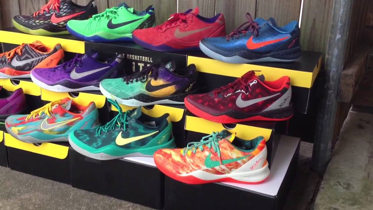Kobe Bryant Nike Shoe Collection