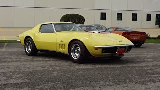 1969 Corvette Stingray Coupe in Yellow & 427 Engine Sound on My Car Story with Lou Costabile