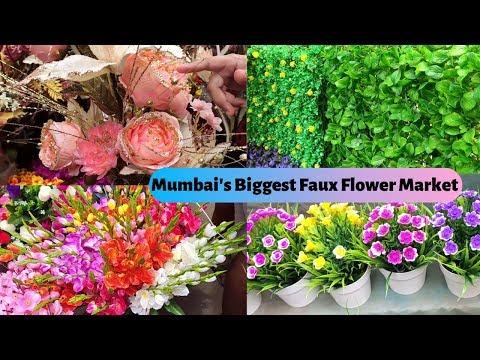 Wholesale/Retail Market Of Artificial Flowers | Cheapest Home Decor- Plants, Pots | Crawford Market