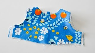 How to sew a bodice with a lining
