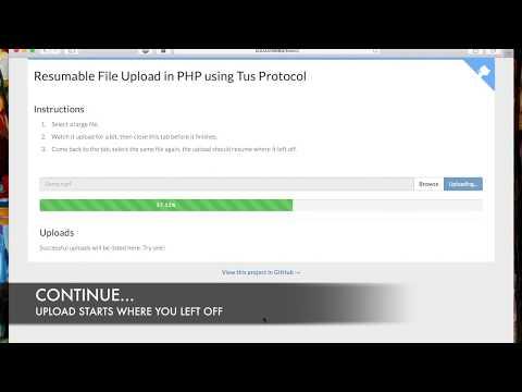 Resumable File Upload in PHP using Tus Protocol v1.0.0 [Demo]