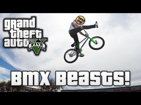 GTA V: BMX BEASTS! (GTA 5 Online Funny...