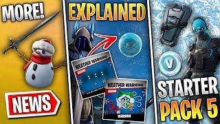 Fortnite News | Ice Storm Event & Challenges, Starter Pack #5, New Items, Leaks & TONS MORE!