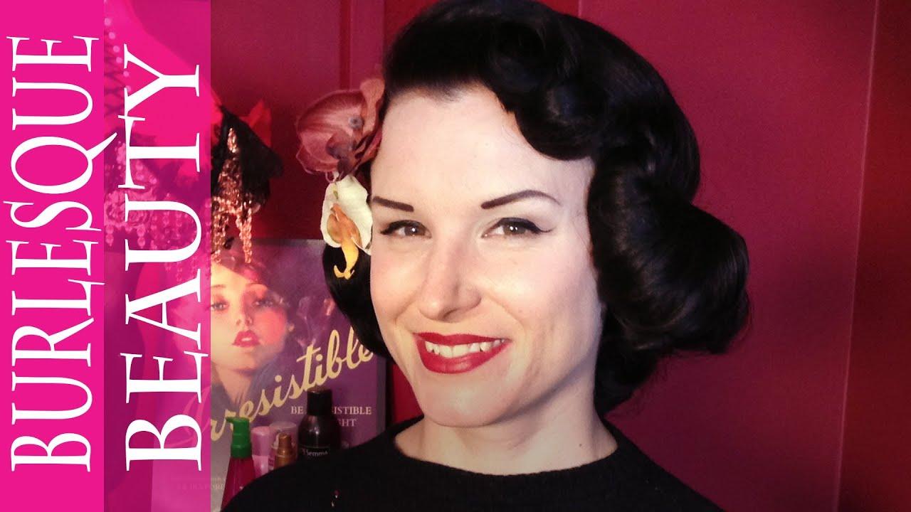 Vintage Hair How To Dita Von Teese 50s Waves Youtube