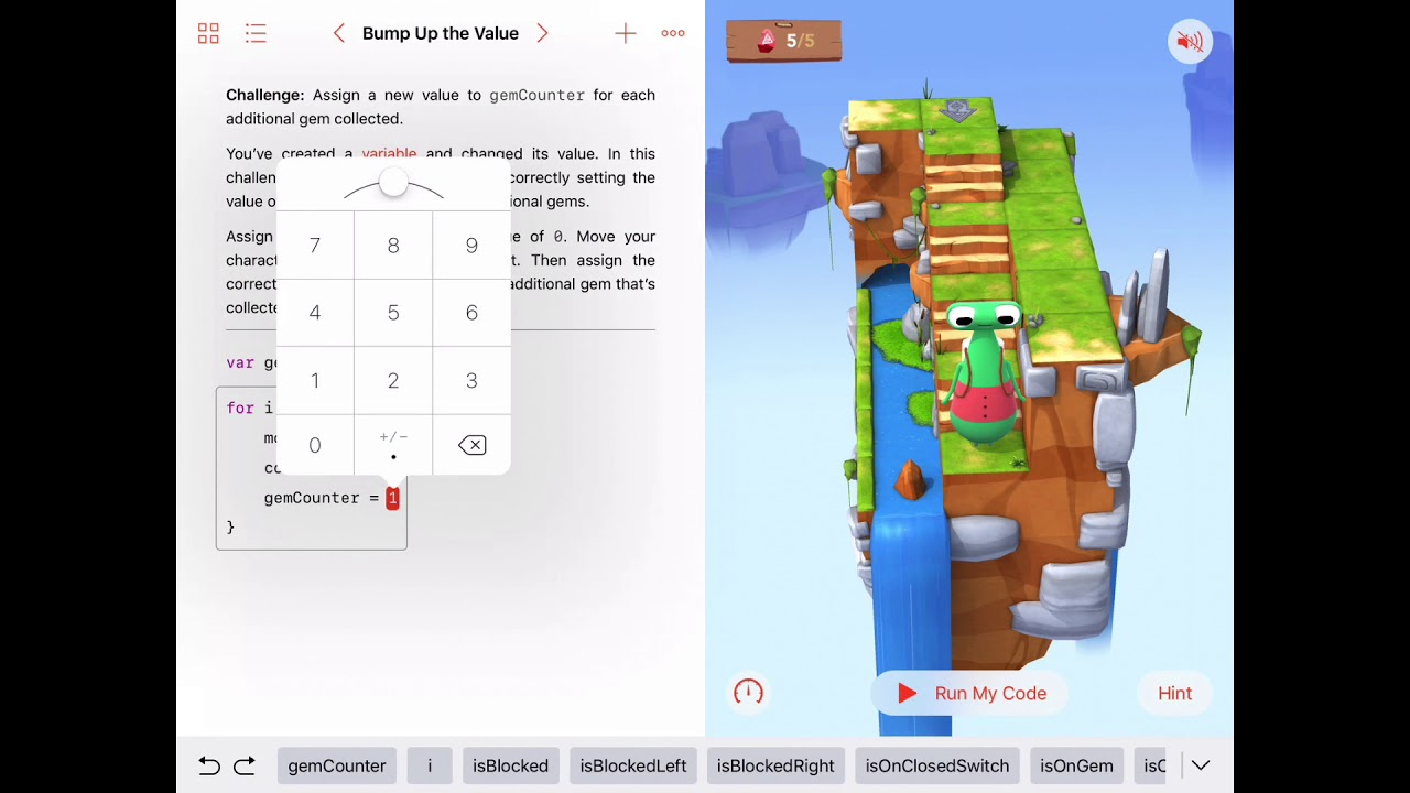Bump Up The Value - Swift Playgrounds - Learn to Code 2