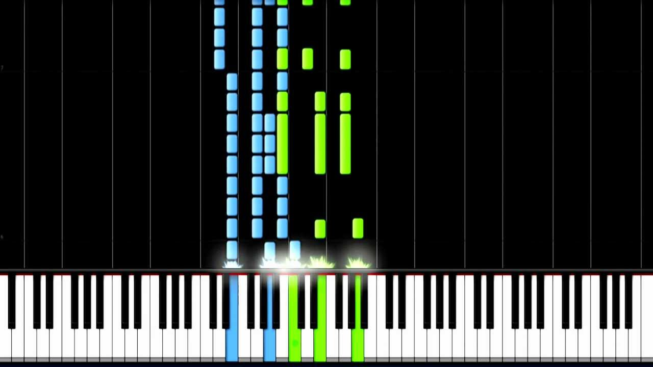 Easy piano tutorial by plutax synthesia
