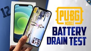iPhone 12 PUBG Battery Drain Test - 100% to 0% | iPhone 12 Fails Shocking Results [Hindi]