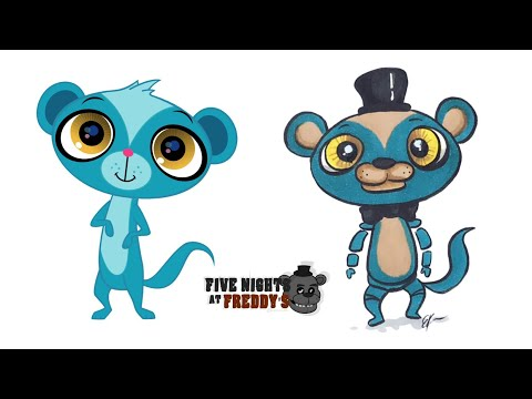 Littlest Pet Shop Characters as Fnaf