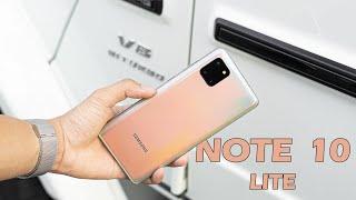 Đánh giá nhanh Samsung Galaxy Note 10 Lite: Thiết kế dòng A, Camera dòng Note
