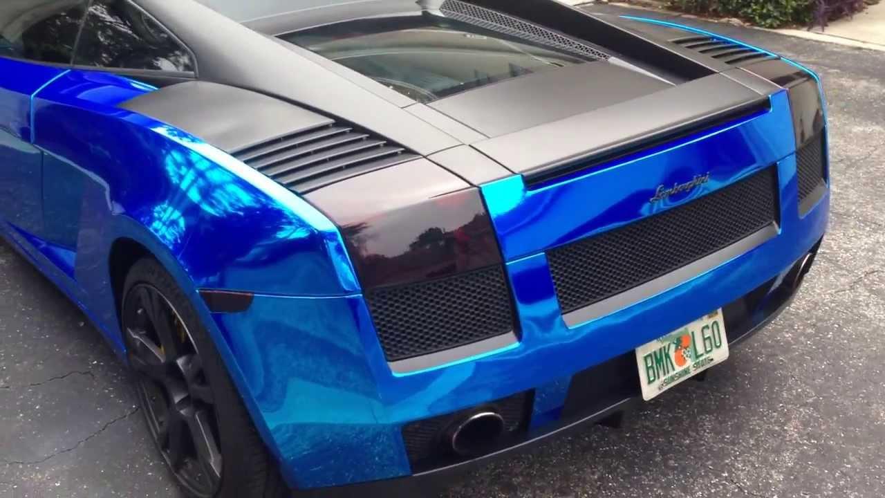 Shelby F150 For Sale >> 2005 Avery Blue Chrome Lamborghini Gallardo - YouTube