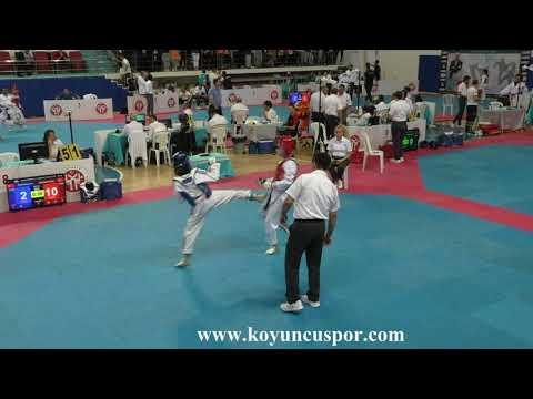 41kg Z. Nur Sarıçiçek Vs E. Koyuncu (2019 Turkish Cadet Taekwondo Championships)