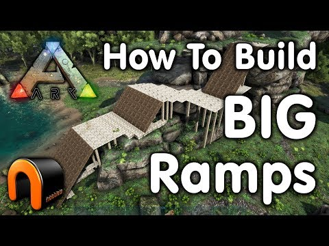 Ark How To Build A Huge Ramp Youtube