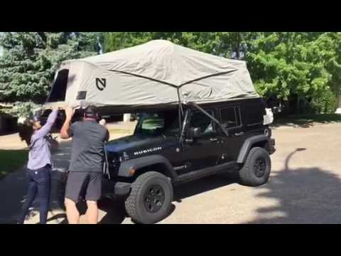 AT Overland Jeep Habitat setup & AT Overland Jeep Habitat setup - YouTube