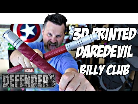 3D Printed Daredevil Billy Clubs | Netflix | The Defenders | Cosplay