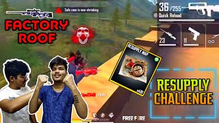 ONLY RESUPPLY MAP  CHALLENGE WITH TSG LEGEND & MANN || ON FACTORY ROOF || BEST LIVE REACTION