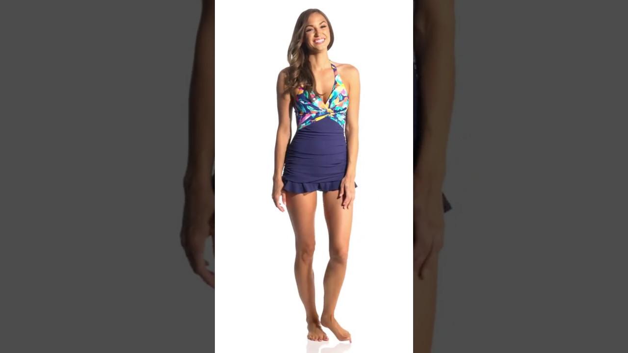 3af72d5712ea8 Profile by Gottex Bermuda Breeze Swimdress | SwimOutlet.com - YouTube