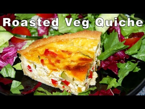 How To Make Roasted Vegetable Quiche Recipe | HappyFoods