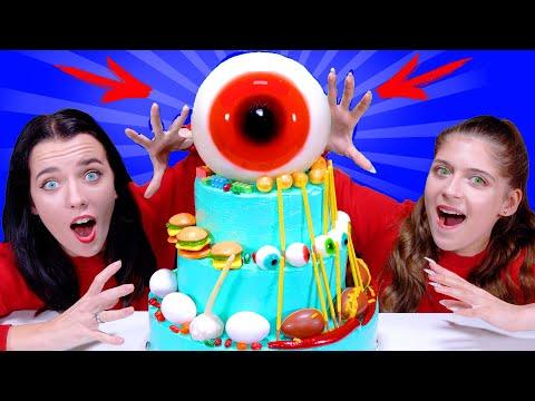 ASMR Giant Eyeball Jelly Cake Decoration Challenge By LiLiBu