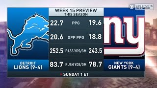 Boomer & Carton: Lions vs Giants preview