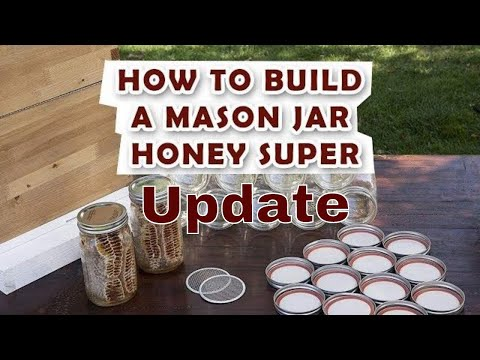 Mason Jar Bee Super Update