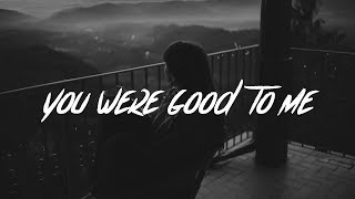 Gambar cover Jeremy Zucker & Chelsea Cutler - you were good to me (lyrics)