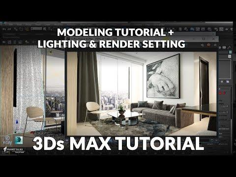3ds Max Living Room Modeling Tutorial