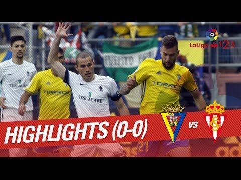Resumen de Cádiz CF vs Sporting de Gijón (0-0)