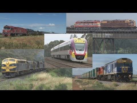 Australian trains : Diesel steam and electric locomotives : DMU's and EMU's
