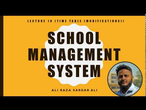 Lecture 18 : School Management System (Time Table Part 4)