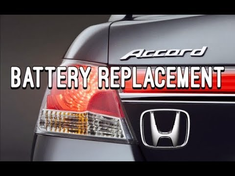 Honda Accord Battery Replacement Removal - How to replace a car battery