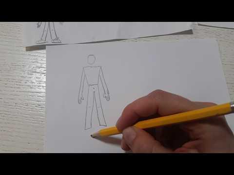 Как нарисовать мужчину для детей