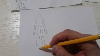 Как научить ребенка 5-7 лет рисовать человека. Видео инструкция.  Подготовка к школе.