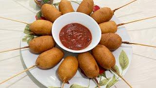 Жаренные сосиски в кляре готовятся очень быстро и просто 1 DONA TUXUMDAN MAZZALI BULOCHKALAR