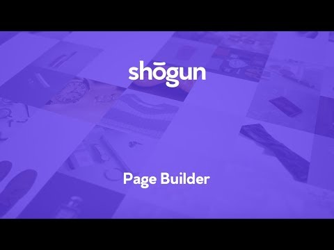 shogun page builder